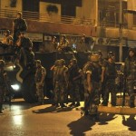 Lebanese soldiers secure an area after clashes in Beirut